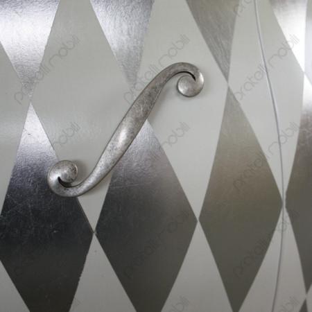 Rombi Foglia Argento con Maniglie art. 5 Argento Graffiato