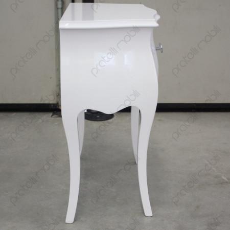 Comodino Bombato 1 Cassetto Bianco