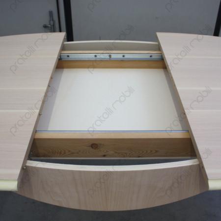 Tavolo Ovale Grezzo Meccanismo di Scorrimento Piani