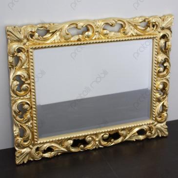 Specchiera Barocca 75x95 Foglia Oro