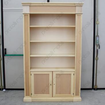 Mobile libreria in legno grezzo