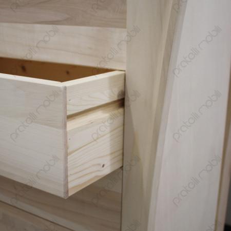 Settimino Grezzo con cassetti in legno
