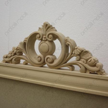 Testiera letto barocco intagliata