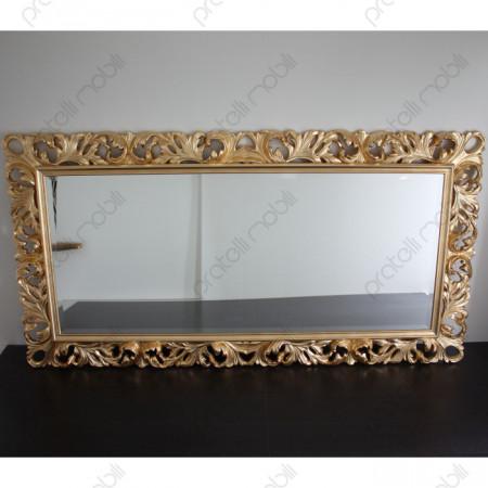 Specchiera Barocca 110 x 208 in Foglia Oro