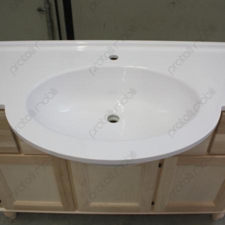 Top in mineralmarmo con vasca ovale