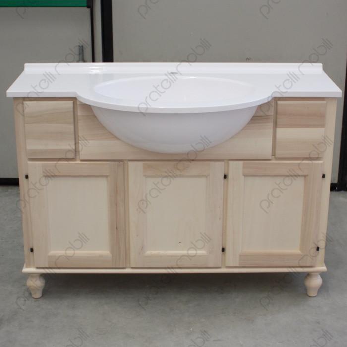 Mobile bagno grezzo con piedi torniti