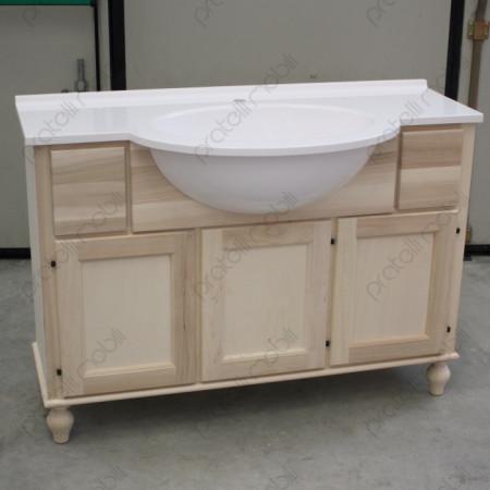 Mobile bagno grezzo con top in mineralmarmo