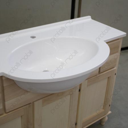 Top in mineralmarmo con vasca integrata