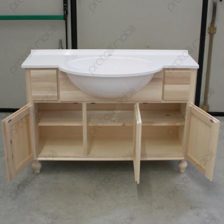 Mobile grezzo per bagno 3 ante 2 cassetti