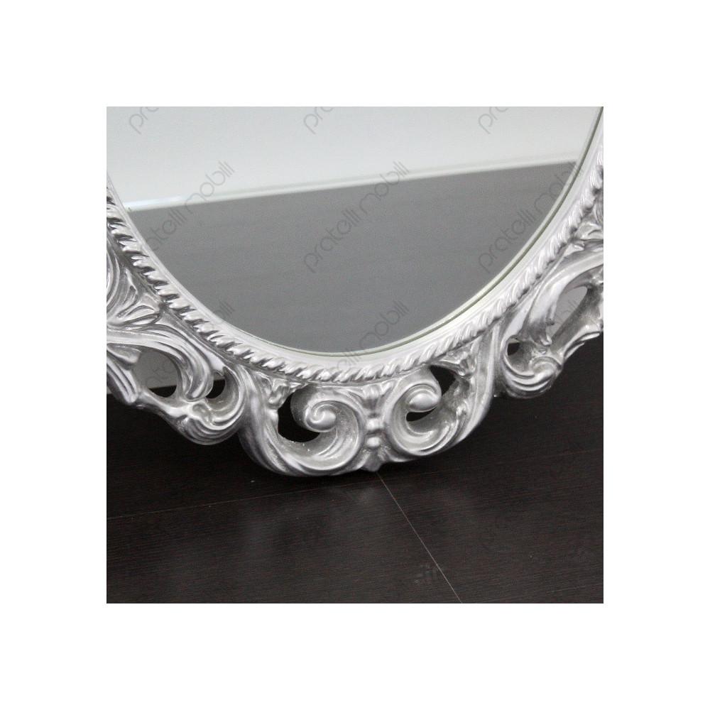 Specchiera ovale in stile barocco for Specchiera barocca