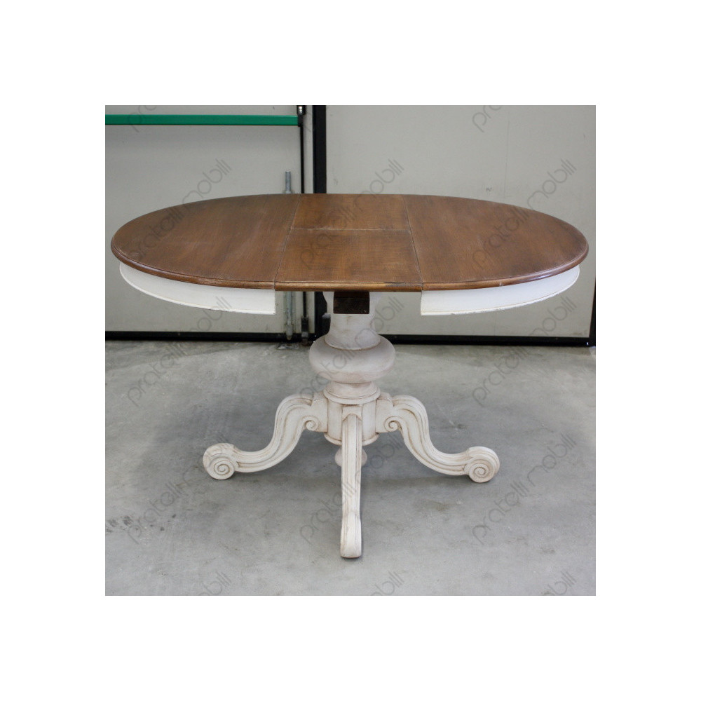 Tavolo Con Gamba Centrale tavolo rotondo allungabile con gamba centrale