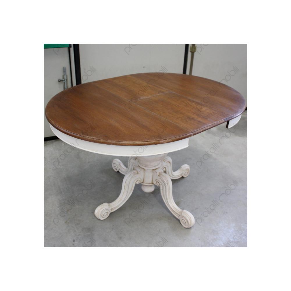 Tavolo Con Gamba Centrale Allungabile tavolo rotondo allungabile con gamba centrale