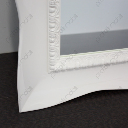 Cornice Bombata Bianco Lucido