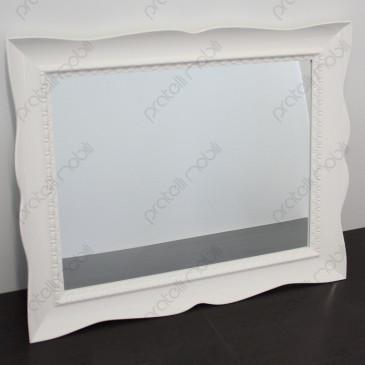 Specchiera Bombata 83 x 103 Bianco Lucido