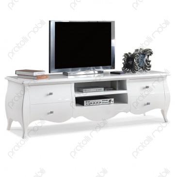Mobile Porta TV Laccato Bianco Lucido ECO