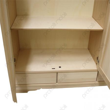 Armadio grezzo cassetti in legno
