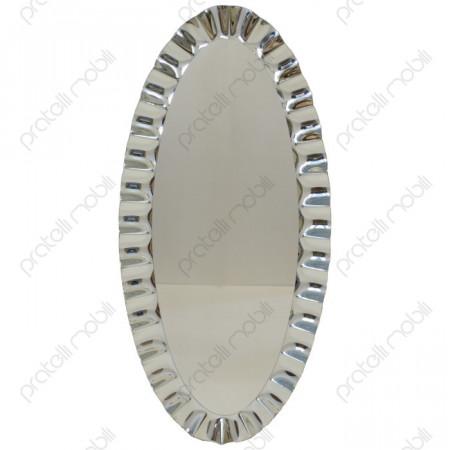 Specchiera Moderna Ovale Cornice Ondulata
