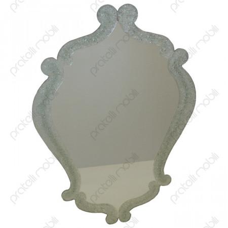 Specchio Sagomato Cornice con Graniglia di Vetro