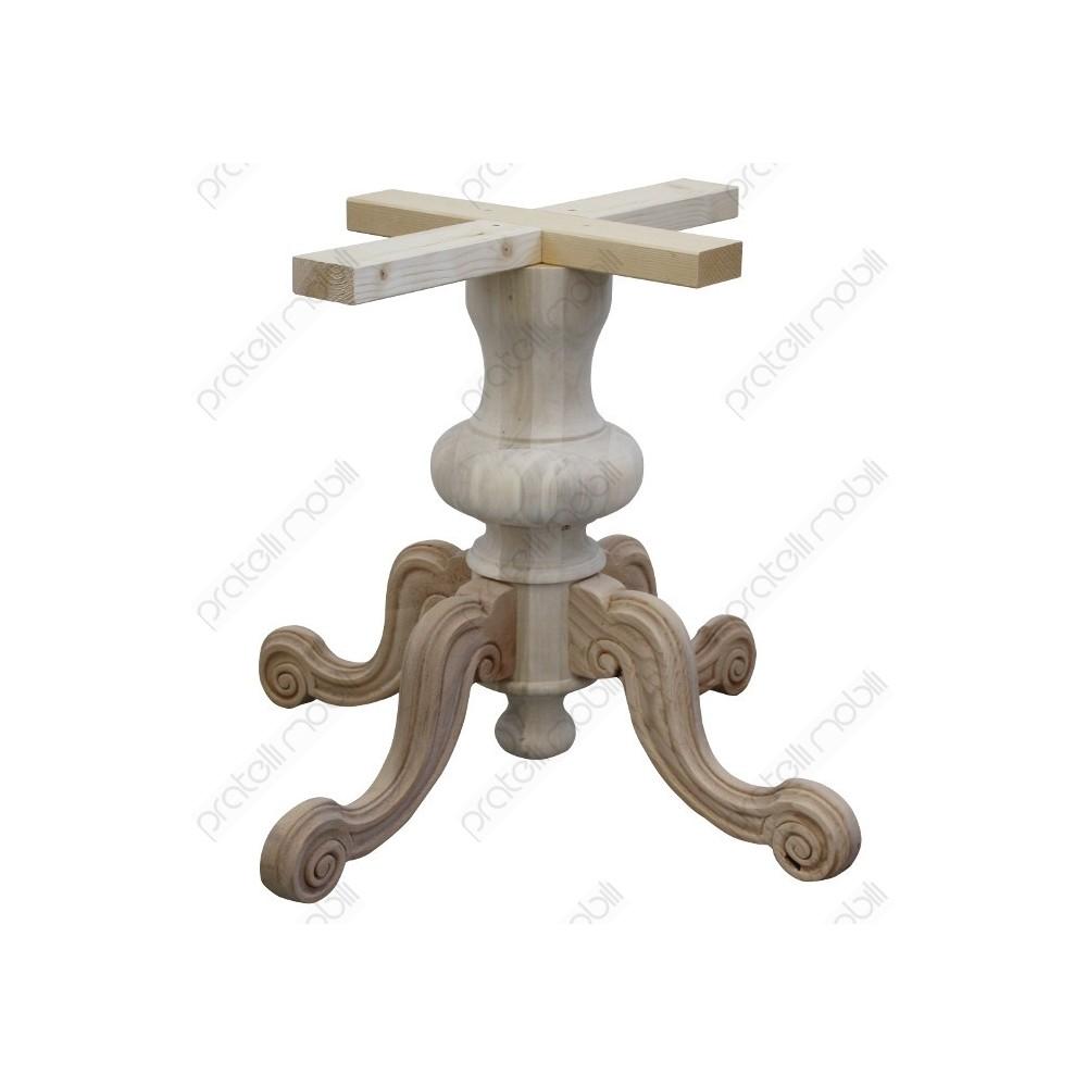 Legno Grezzo Per Tavoli basamento gamba centrale grezzo per tavolo rotondo mod. intagliato