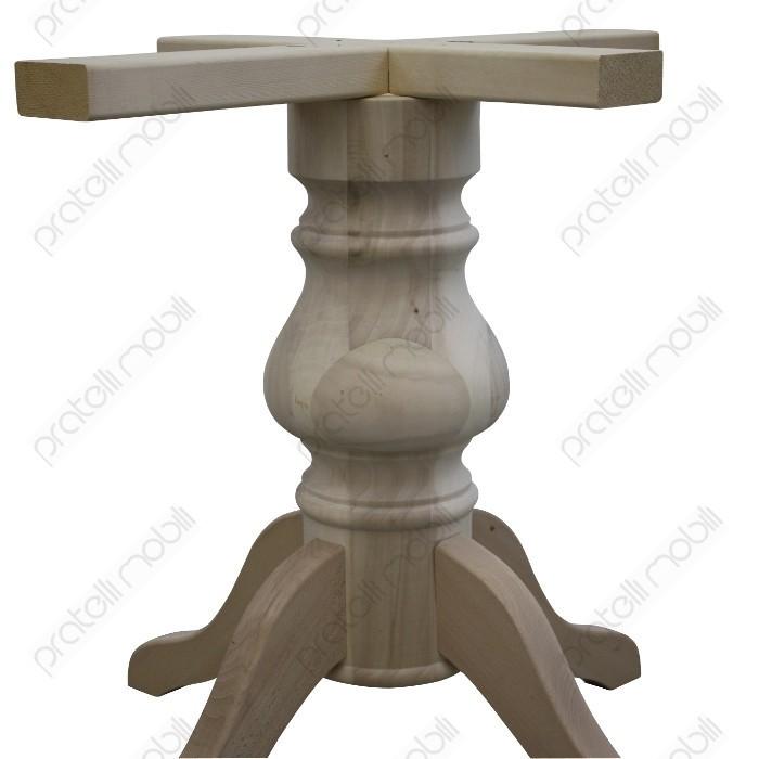 Gambe Per Tavoli Rotondi.Basamento Gamba Centrale Grezzo Per Tavolo Rotondo Mod Liscio