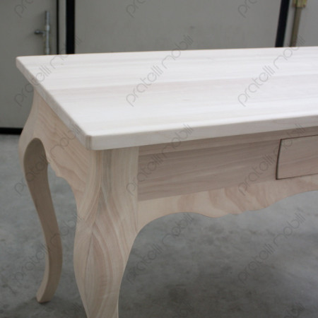 Scrivania Grezza con Top in Legno Massello