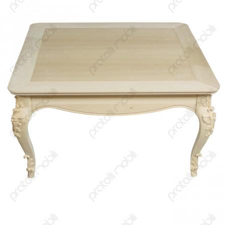 Tavolino Barocco Grezzo Flora Quadrato