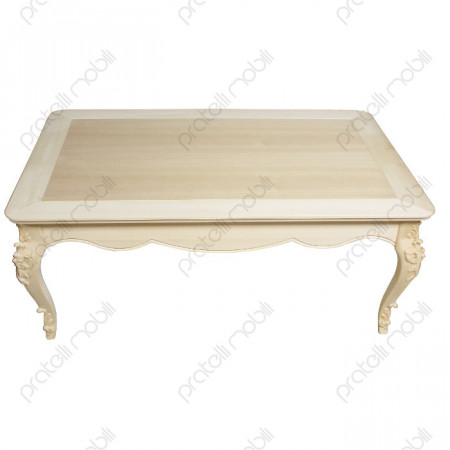 Tavolino Barocco Grezzo Flora Rettangolare