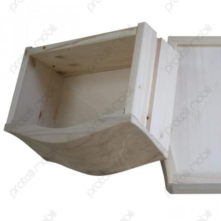 Cassetti profondi in legno massello