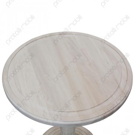 Tavolino Grezzo Rotondo da Soggiorno Base Centrale