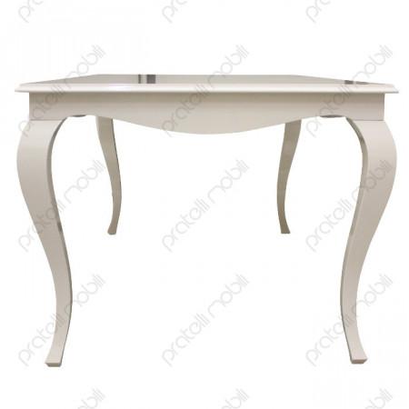 Tavolo Barocco gambe bombate vista laterale