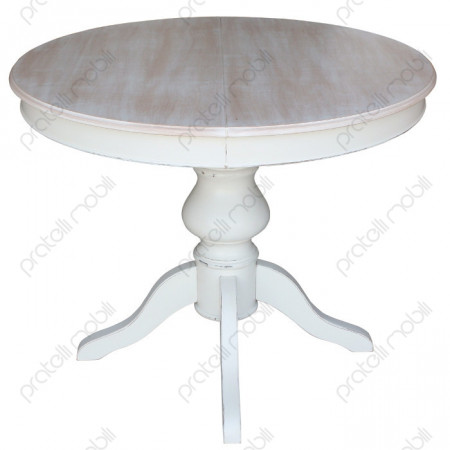 Tavolo rotondo allungabile gamba centrale