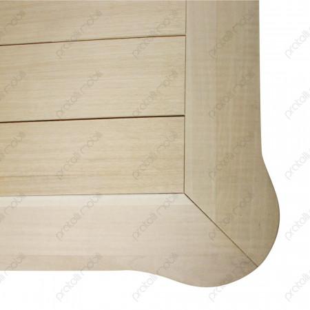 Tavolino barocco grezzo in legno massello