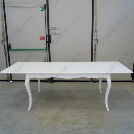 Tavolo Provenzale 160x90 Allungato Bianco Opaco