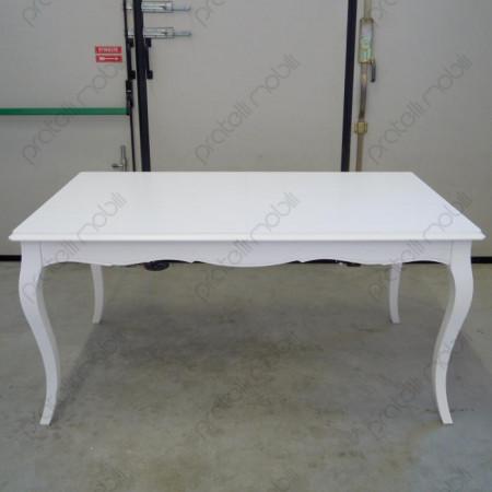 Tavolo Provenzale 160x90 Bianco Opaco