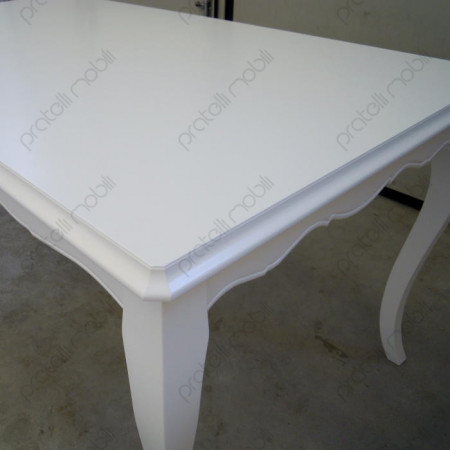 Tavolo Colore Bianco Opaco