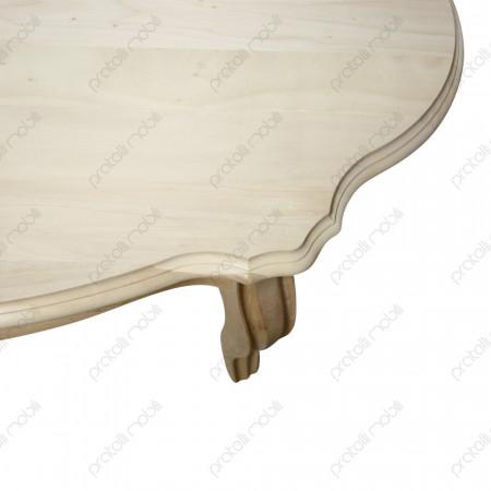 Tavolino grezzo in legno massello