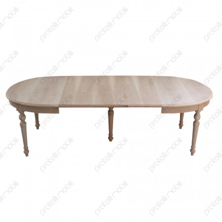 Tavolo Ovale Grezzo con 3 Allunghe