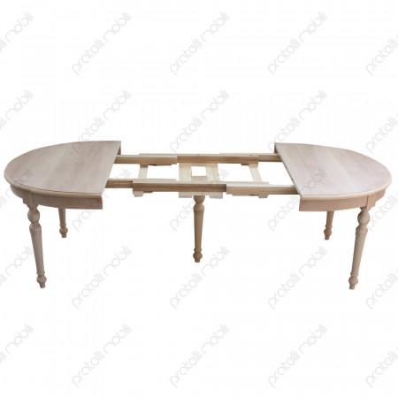 Tavolo Ovale Grezzo Meccanismo di Allungamento in Legno