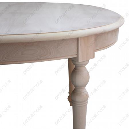 Tavolo Ovale Grezzo con Gambe Tornite