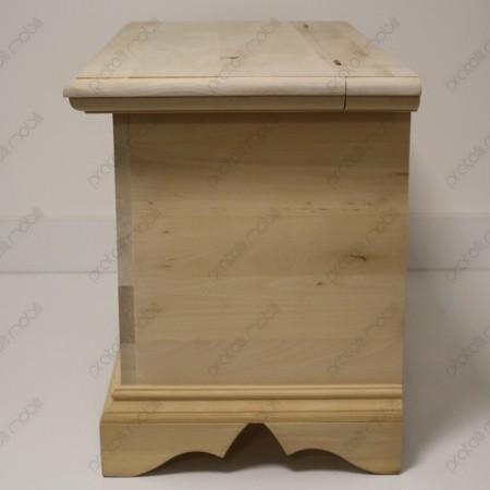 Cassapanca grezza da colorare in legno