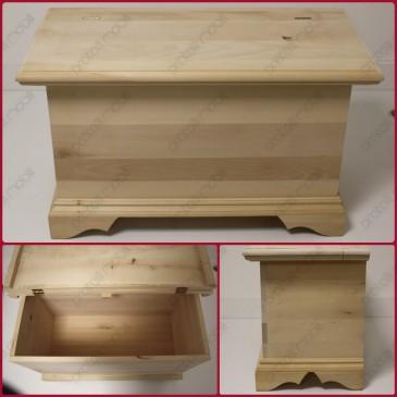 Cassapanca grezza in legno massello