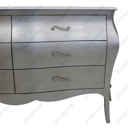 Bagno bombato finitura foglia argento