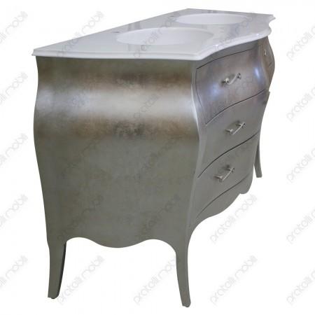 Mobile bagno barocco moderno foglia argento