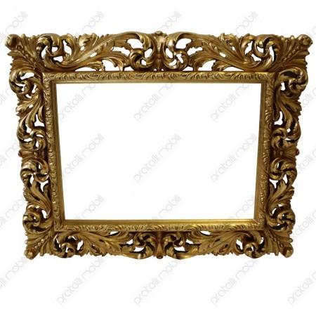 Specchiera barocco foglia oro anticato