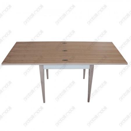 Tavolo in legno grezzo apertura a libro