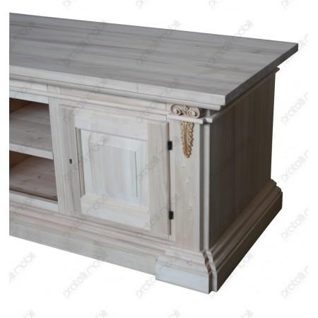 Mobile porta tv legno grezzo intagliato