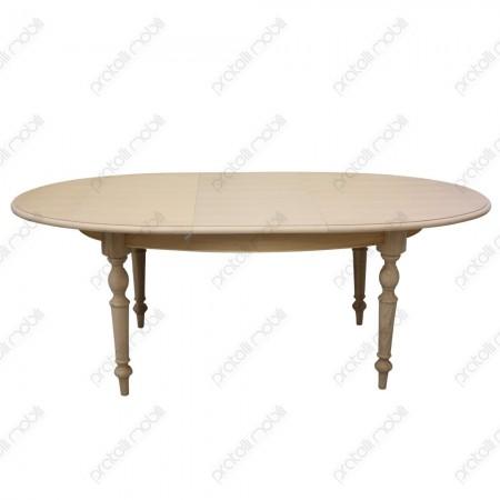 Tavolo ovale grezzo shabby allungabile