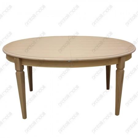 Tavolo ovale grezzo con gambe a spillo
