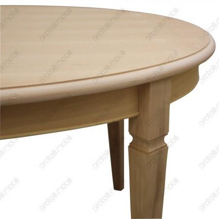 Tavolo ovale grezzo gamba spillo
