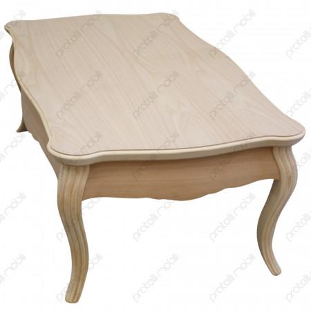 Tavolino barocco grezzo per salotto